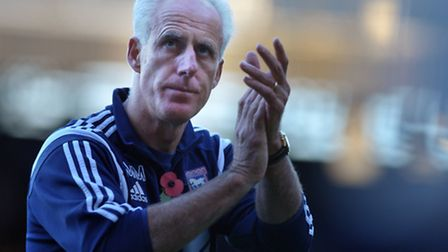 Ipswich Town v Huddersfield Town. Sky Bet Championship. Ipswich Town manager Mick McCarthy.