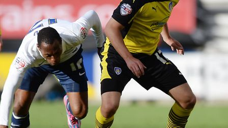 Drey Wright, in action against Preston, will not play again this season
