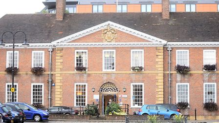 Bury Town Council Building on Angel Hill