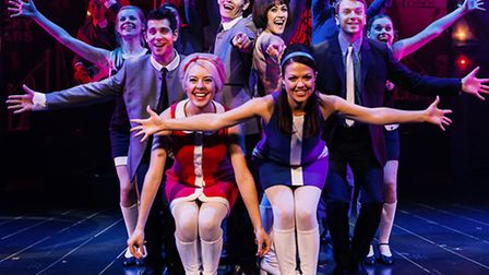 The cast of Dreamboats and Miniskirts, at the Ipswich Regent. Photo: Darren Bell
