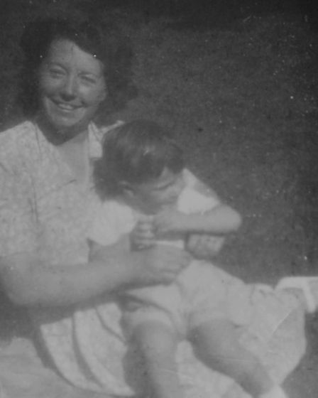 Peggy Burch's family photos: Peggy at 22 with Walter John.