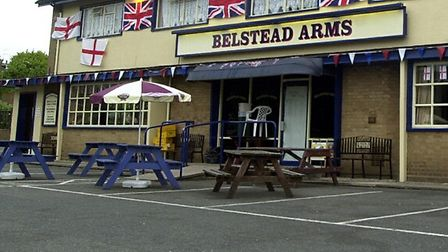The Belstead Arms in Radcliffe Drive was targeted shortly after midnight and 8am on Thursday.