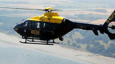 Armed police officers, a police helicopter and a police dog unit attended the scene