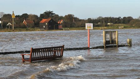 Southwold Harbour was flooded this morning , October 22nd, at around 8.30am.