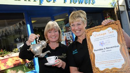 Juniper Flowers in Sudbury is set to hold a vintage tea party for the Forget Me Not dementia campaig