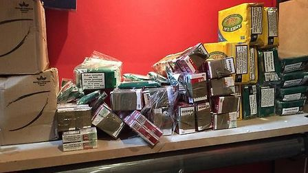 Tobacco seized as part of a joint Trading Standards and Essex Police operation in Colchester