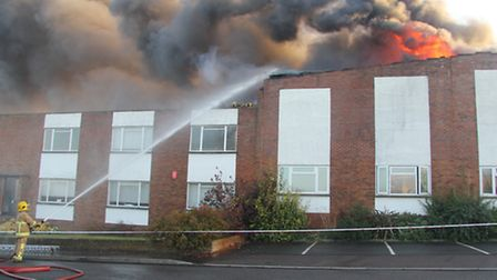 Lady Lane Industrial Estate Fire. Photo: Mark Eley, Suffolk Fire and Rescue Service