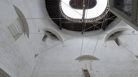Behind the scenes tour of Ickworth House in Horringer. The view of the inside of the rotunda.