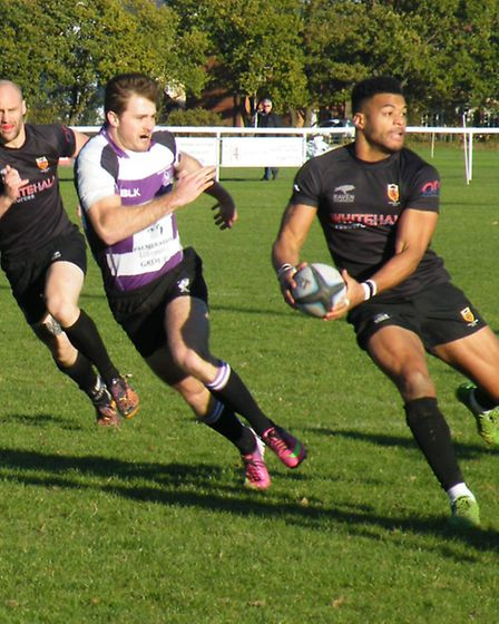 Colchester's Damo Brambley gets ready to pass to a team-mate
