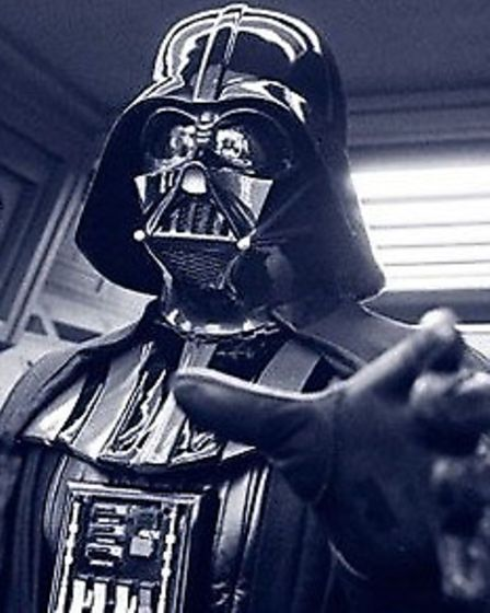 David Prowse as Darth Vader, the number one screen villain of all time