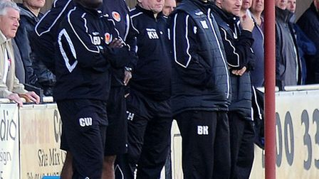The Witham Town management will be hoping to bolster their FA Cup history books again today