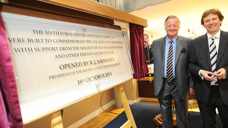 The official opening of the new sixth form centre at Framlingham College. President of the society