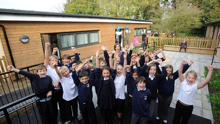 The official opening of the new extension at Bosmere Primary School in Needham Market. Headteacher L