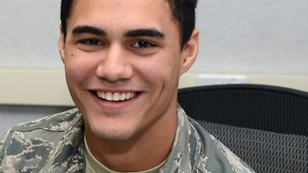 US Air Force's Charlie Martinez, based at RAF Mildenhall, appeared on the X Factor. Pictured at the