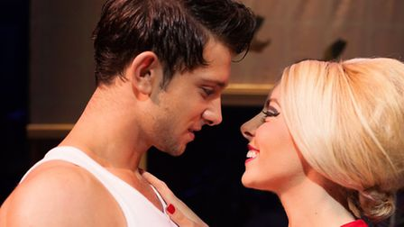Ross William Wild as Norman and Louise Olley as Sue in Dreamboats and Miniskirts, at the Ipswich Reg