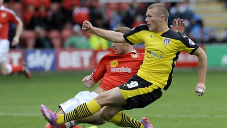 Rhys Healey, who scored the opening goal in Colchester United's 4-2 defeat at Preston this afternoon