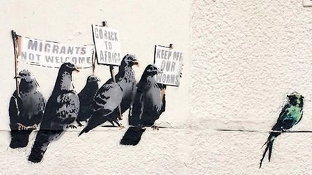 This Banksy artwork has been removed from Clacton seafront