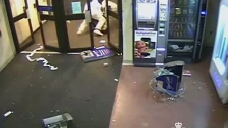 CCTV footage of the ram raid at the University of East Anglia (UEA). Picture: Norfolk Constabulary
