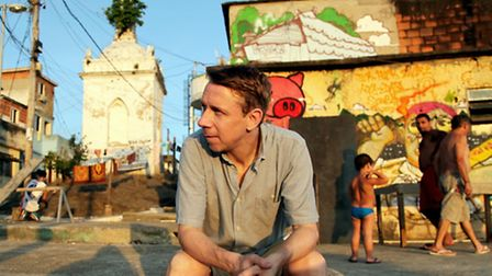 Gilles Peterson. FlipSide 2014 at Snape Maltings, a festival of Brazilian and UK culture in Suffolkm