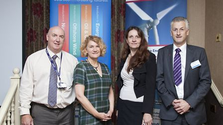 Celia Anderson, second from right, of Skills for Energy, with (from left) Ian Ashman, Jo Pretty and