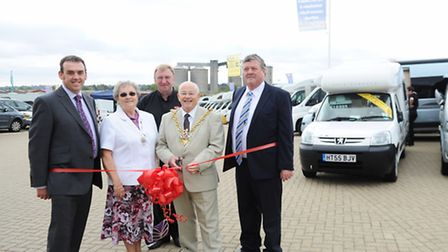 The Mayor of Ipswich Bill Quinton performs the Grand Opening ceremony of Marquis Suffolk at farthing