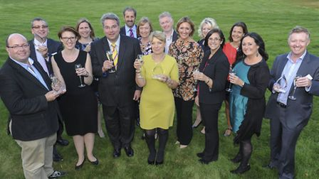 Winners celebrating their success at the Best Employer Eastern Region awards ceremony at Paddocks Ho