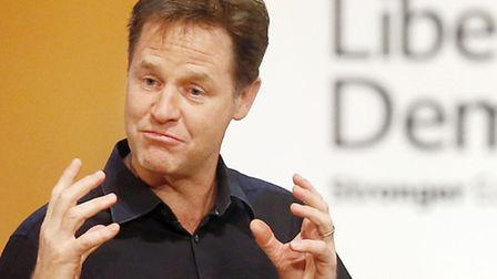 Deputy Prime Minister Nick Clegg during a question and answer session on day three of the Liberal De