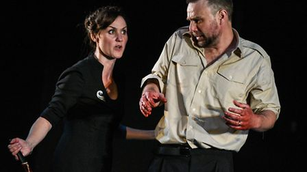 Macbeth at the Colchester Mercury. Photo: Robert Day. Esther Hall as Lady Macbeth and Stuart Laing a