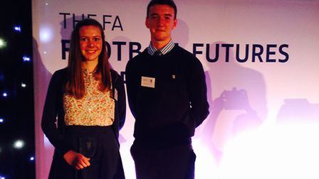Cameron Hogg (left) and Cameron Brown (right) at the awards ceremony.