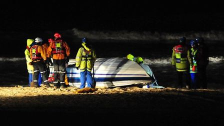 The speedboat which was recovered by coastguards and the fire service water rescue team.