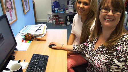 Paige Hughes, 18, who has become the 3,000th Essex Apprentice. With employer Angela Wagstaff.