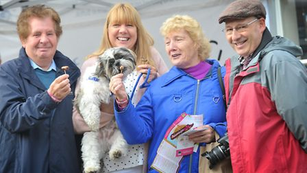 Framlingham's fourth annual Sausagefest was hailed as a huge success on Saturday. L-R Keith Aspen, S