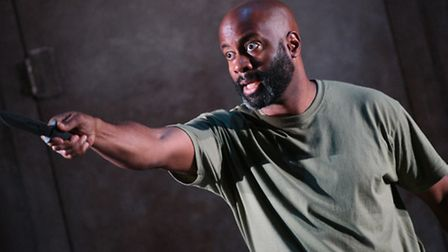 EastEnders actor Nicholas Bailey as Macduff in Macbeth at the Colchester Mercury. News that soap sta