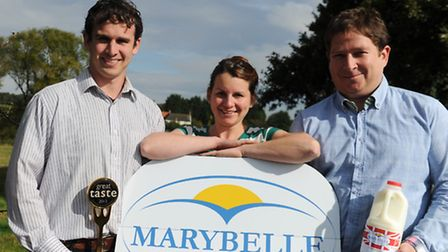 James Strachan and Katherine Manning of Marybelle Dairy in Walpole who have just gone into business