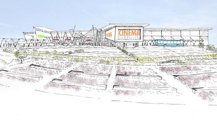 Artist's sketch of the originally proposed Clacton Gateway project. Asda are no longer linked to the