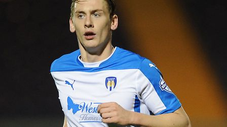 Elliott Hewitt, who is currently on loan at Colchester from Ipswich