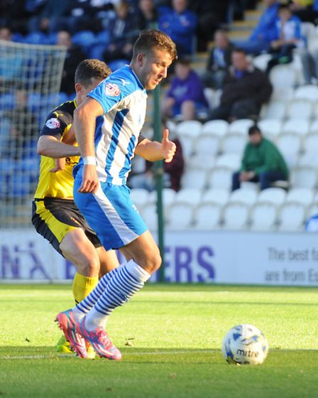 Action from Colchester United v Fleetwood Town in the Sky Bet League One.