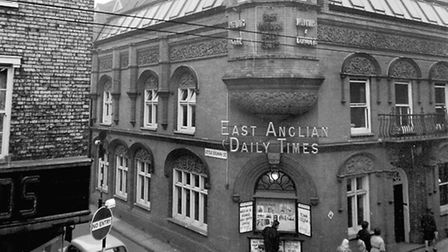 The offices and printing works of the East Anglian Daily Times at 13 Carr Street in December 196