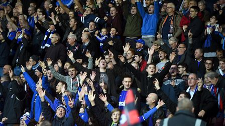 The travelling Ipswich fans in fine voice at Bournemouth on Saturday