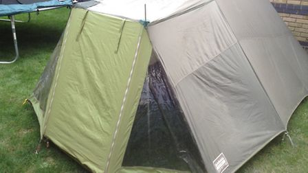 Natalie Sadler's husband's tent, which is 32 years old