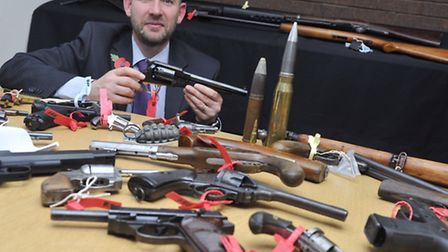 Richard Kennett, firearms licensing manager for Suffolk Constabulary, is urging people to hand in gu