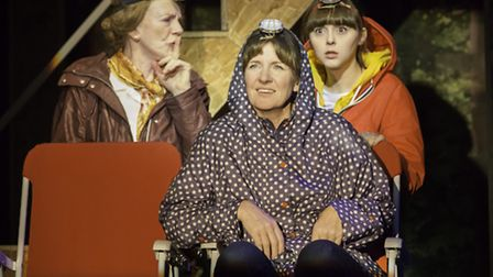 Marjorie Yates, Clare Burt and Evelyn Hoskins in This is My Family by Tim Firth which is at the New