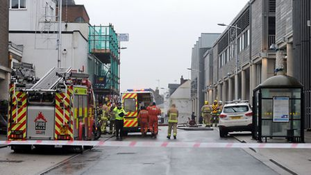 The Arc shopping centre in Bury is cordoned off due to a gas leak.