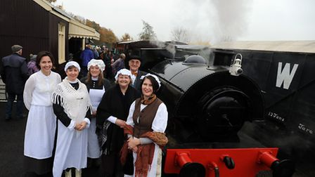 The Victorian Christmas Fayre at Mid-Suffolk Light Railway. Victorian costumes were the order of the