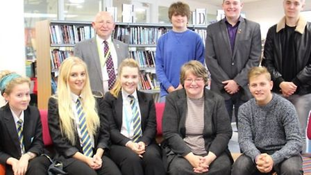 Therese Coffey meets Felixstowe Academy students during Parliament Week