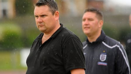 Diss Town manager Jason Cook saw his side give Whitton United a good game. Picture: Denise Bradley