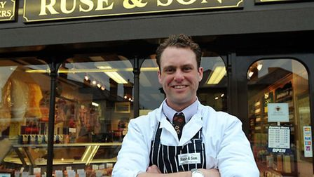 Oliver Ruse is pictured at Ruse & Son butcher's in Long Melford in 2009.