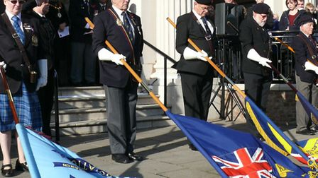 Armistice Day service at Clacton Town Hall 2014