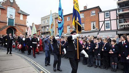 Rededication of Woodbridge War Memorial followed by open air Remembrance Day service on Market Hill.