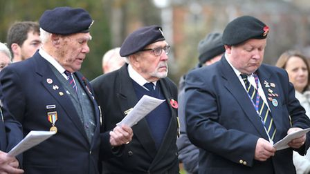 Remembrance service at the Cenotaph in Christchurch Park to mark the signing of the Armistice in 191